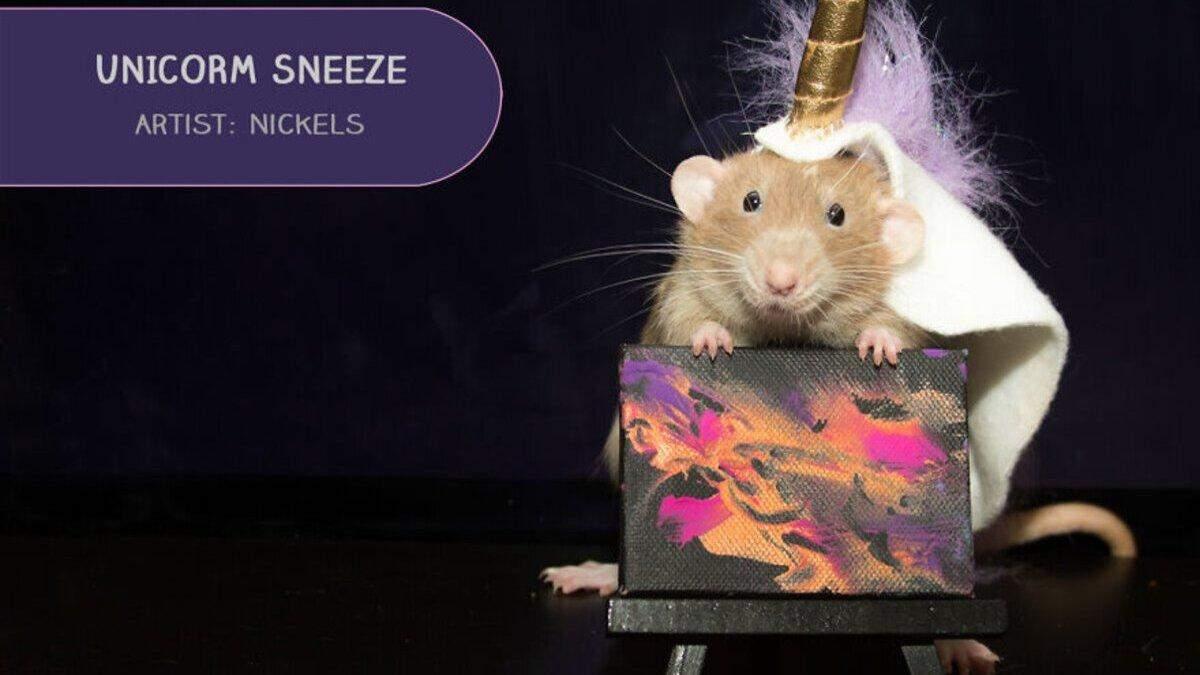 Картини домашніх щурів продають з аукціону: фото