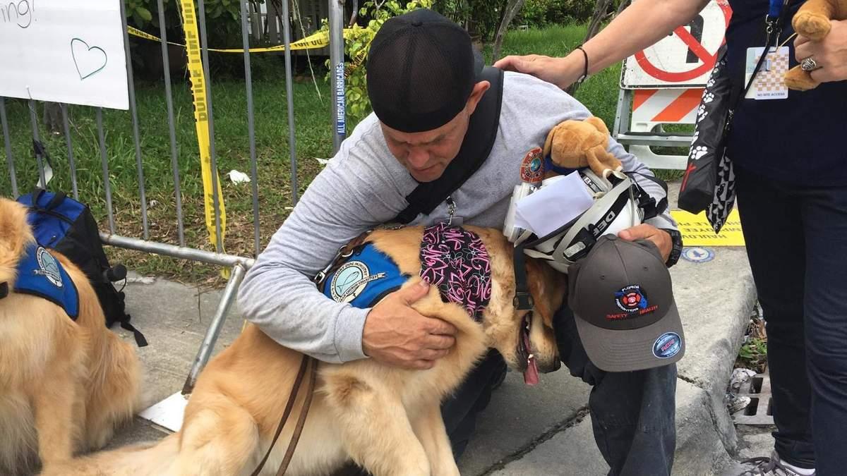 Собаки-волонтери втішали людей у Маямі