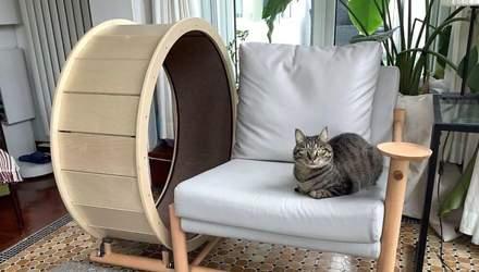 Отдых и спорт: дизайнеры придумали уникальное кресло для кошек и их хозяев